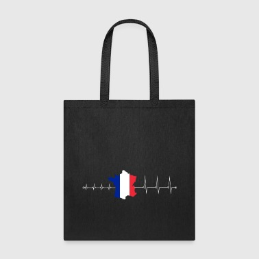 Heartbeat France - I love France - Tote Bag