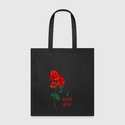 red rose - Tote Bag