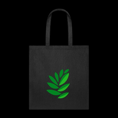 drawing green leaves - Tote Bag