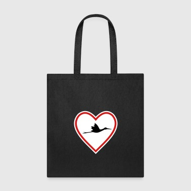 Stork heart sign expecting parents gift idea - Tote Bag
