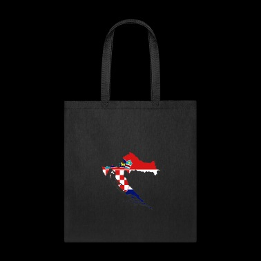 flag Croatia map Hrvatska - Tote Bag