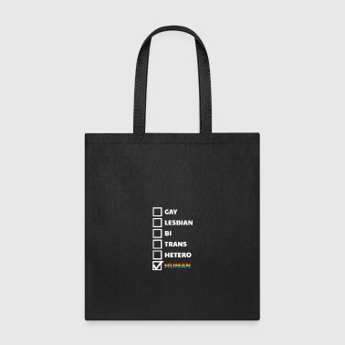 LGBT love human colorful gift homosexual friends - Tote Bag