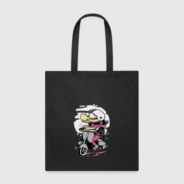 crazy scooter rider - Tote Bag