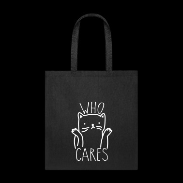 Who Cares Cute Cat - Tote Bag