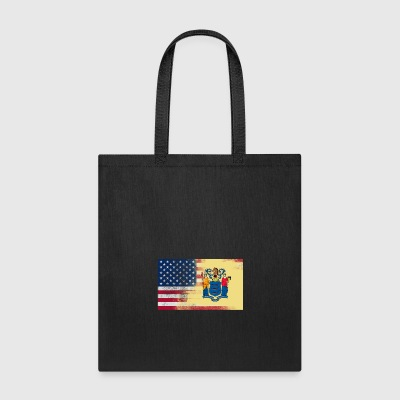 New Jersey American Flag Fusion - Tote Bag