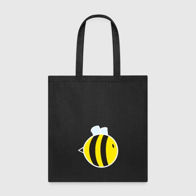 Regular Bee with White Outline - Tote Bag
