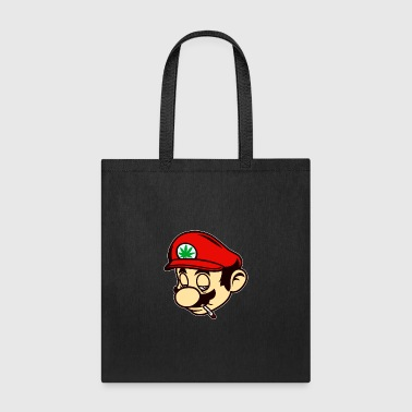 Mario Smoking Marijuana Weed - Tote Bag