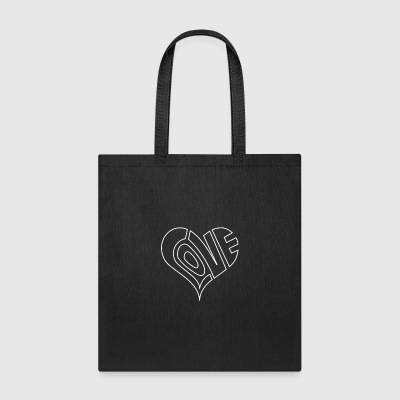 Men s Love Heart Outline Valentine s Day - Tote Bag
