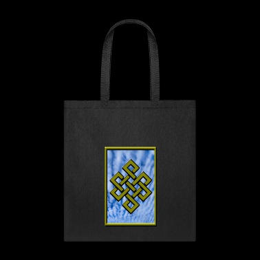 Golden Karma Endless Knot or Eternal Knot Poster - Tote Bag
