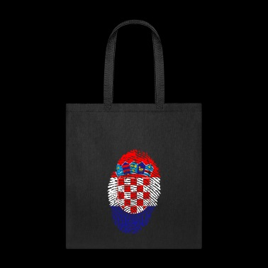 fingerprint i love wurzeln croatia kroatien - Tote Bag