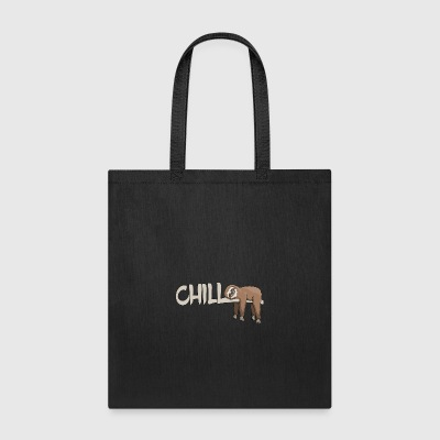 lazybones sloth chilling on tree in rainforest - Tote Bag