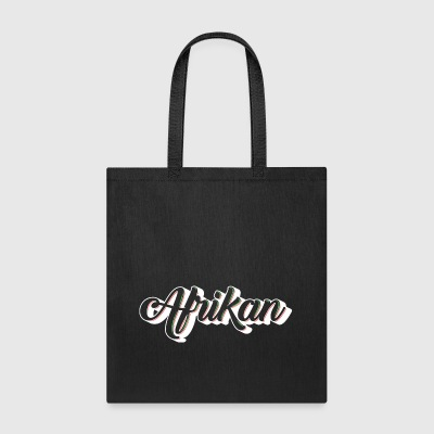 Cursive Afrikan White with no fill - Tote Bag