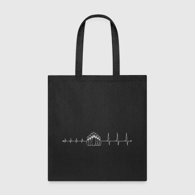 heartbeat bowling - I love bowling - Tote Bag