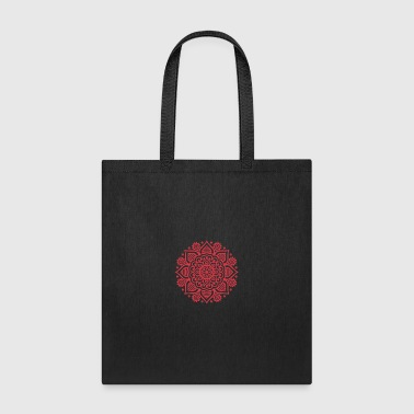 Red mandala - Tote Bag