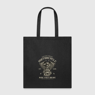 Custom Engine Motorcycle - Tote Bag