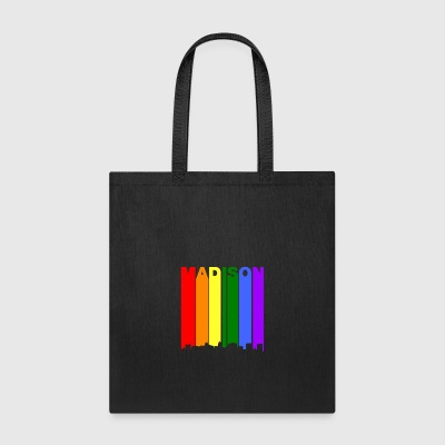 Madison Wisconsin Rainbow LGBT Gay Pride - Tote Bag