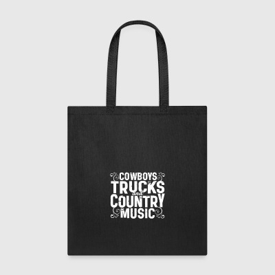 Cowboys Trucks And Country Music T Shirt - Tote Bag