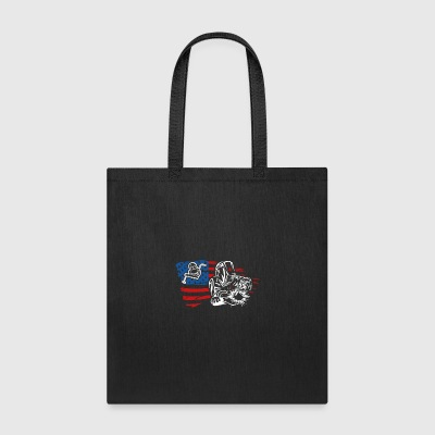 US Flag Welder Tee Shirt - Tote Bag