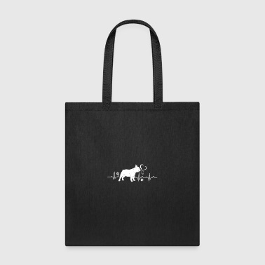 French Bulldog Heartbeat Shirt - Tote Bag