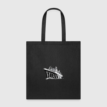 Titanic Historical Graphic Tee Shirt - Tote Bag