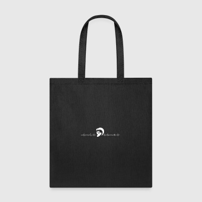 Kite surfing heartbeat - Tote Bag