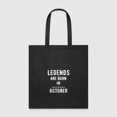 Legends are born in october - Tote Bag