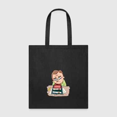 man_with_book - Tote Bag
