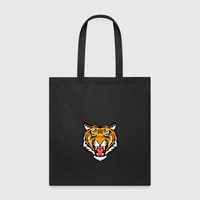 animal face tiger - Tote Bag