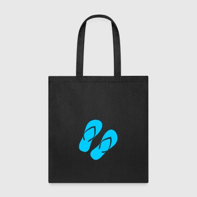Blue Flip Flops - Tote Bag