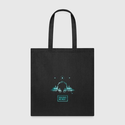 Music makes me high blue - Tote Bag