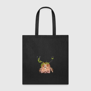 Green woman Maiden wicca - Tote Bag