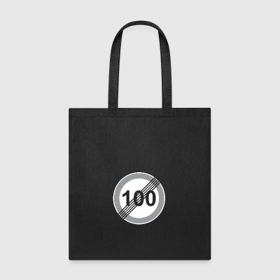 Road_Sign_100_restriction - Tote Bag