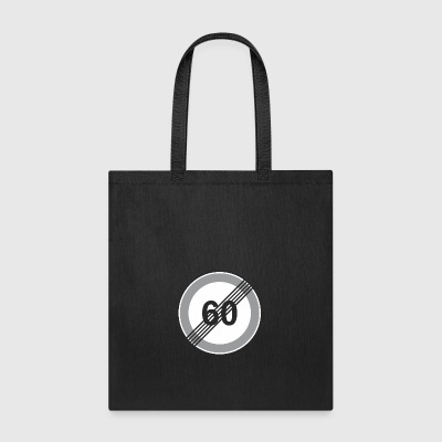 Road_Sign_60_restriction - Tote Bag