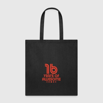 16 Years Of Awesome 16th Birthday - Tote Bag