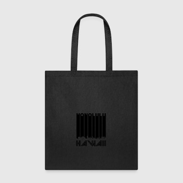 Retro Honolulu Hawaii Skyline - Tote Bag