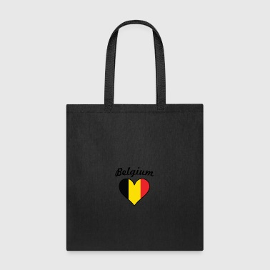 Belgium Flag Heart - Tote Bag