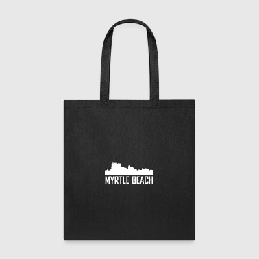 Myrtle Beach South Carolina City Skyline - Tote Bag