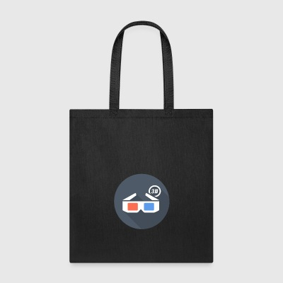 3D glasses - Badge - Tote Bag