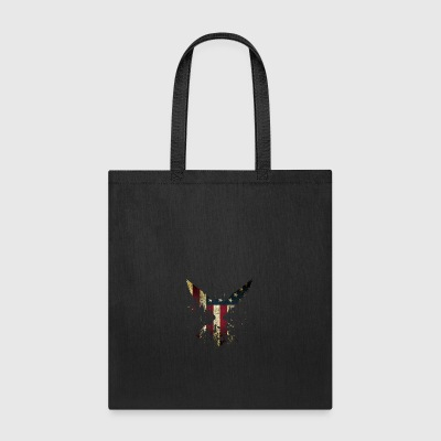 Merica Eagle American eagle with US flag - Tote Bag