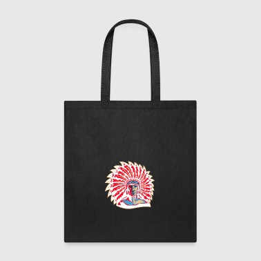 red_plumage_indian_chief_white - Tote Bag
