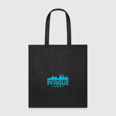 Retro Prague Skyline - Tote Bag