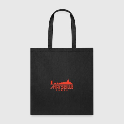 Retro Marseille Skyline - Tote Bag