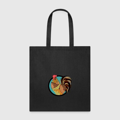 Colorful Rooster - Tote Bag