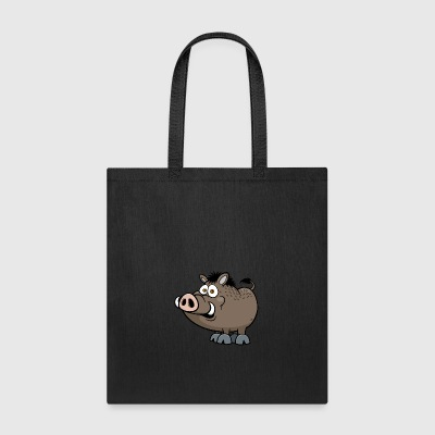 wild-boar-animal-wildlife-smile-pig - Tote Bag