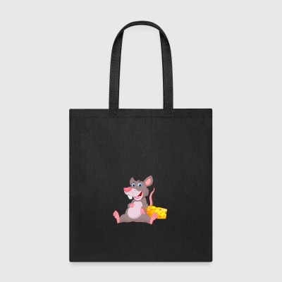 smiling rat cheese rodent animal wildlife - Tote Bag