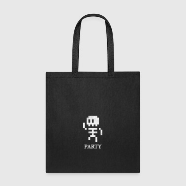 8 Bit Skeleton Party - Tote Bag