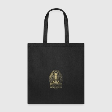 Gautama Buddha Weathered Halftone - Tote Bag