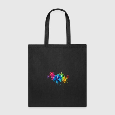 Flower Splatter - Tote Bag