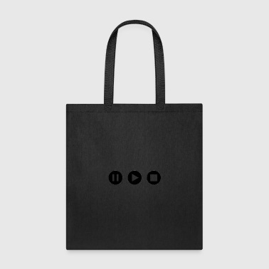 pause play stop design - Tote Bag