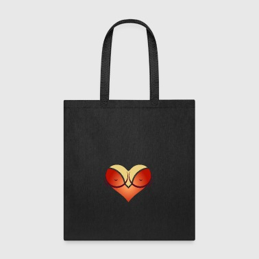 Heart-shaped Woman's Breasts With Deep Cleavage - Tote Bag